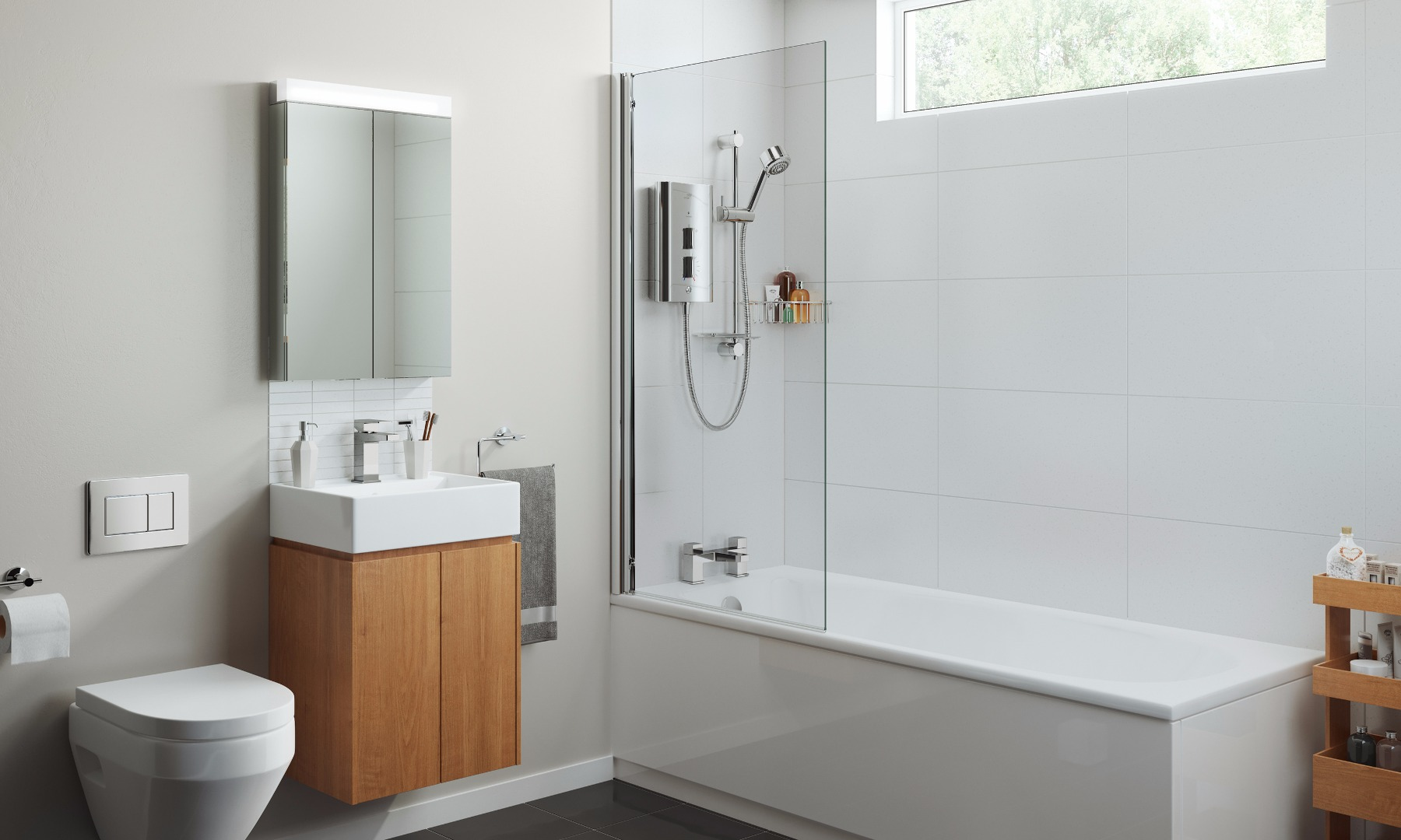 White bathrooms' designs & ideas by Mira Showers on Small Bathroom Ideas Uk id=99867