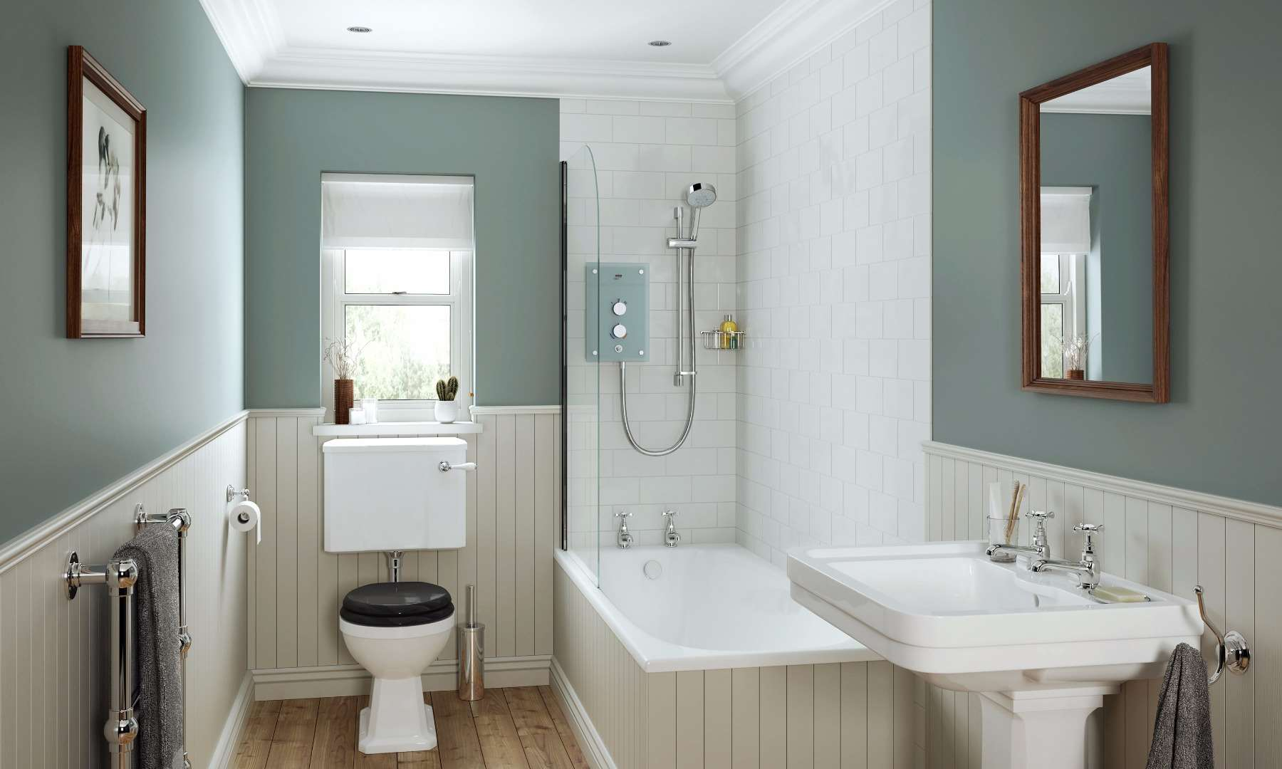 mira-showers-small-traditional-bathroom-roomset-03-galena. & Bathroom Wall Décor ideas | Mira showers by Mira Showers