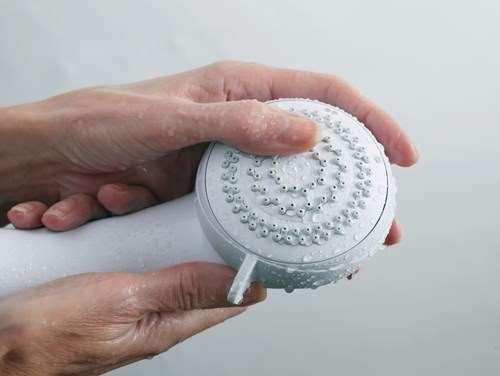 Mira Showerhead Rub Clean Nozzles Hand