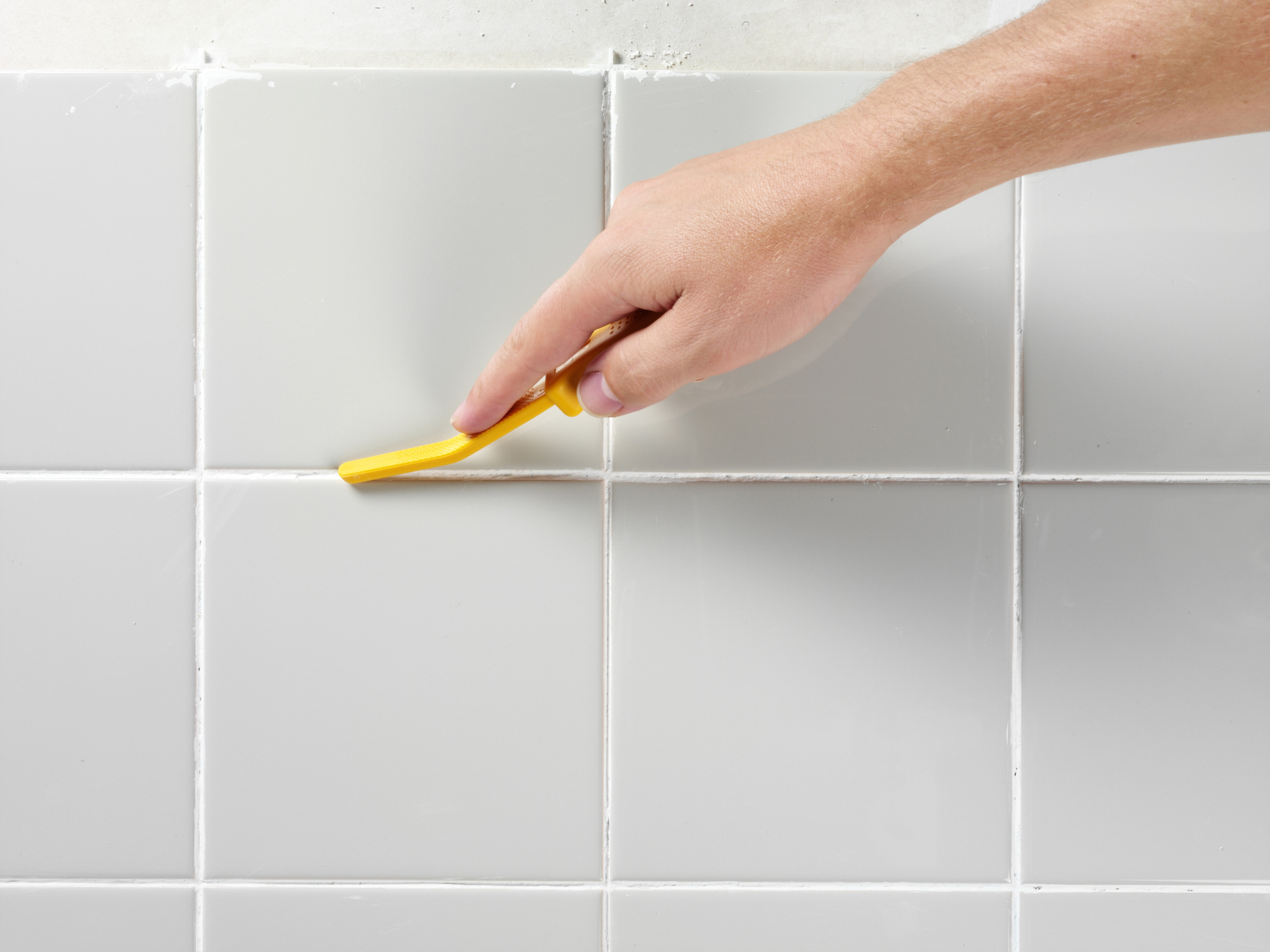 Tidying up with a grout finishing tool