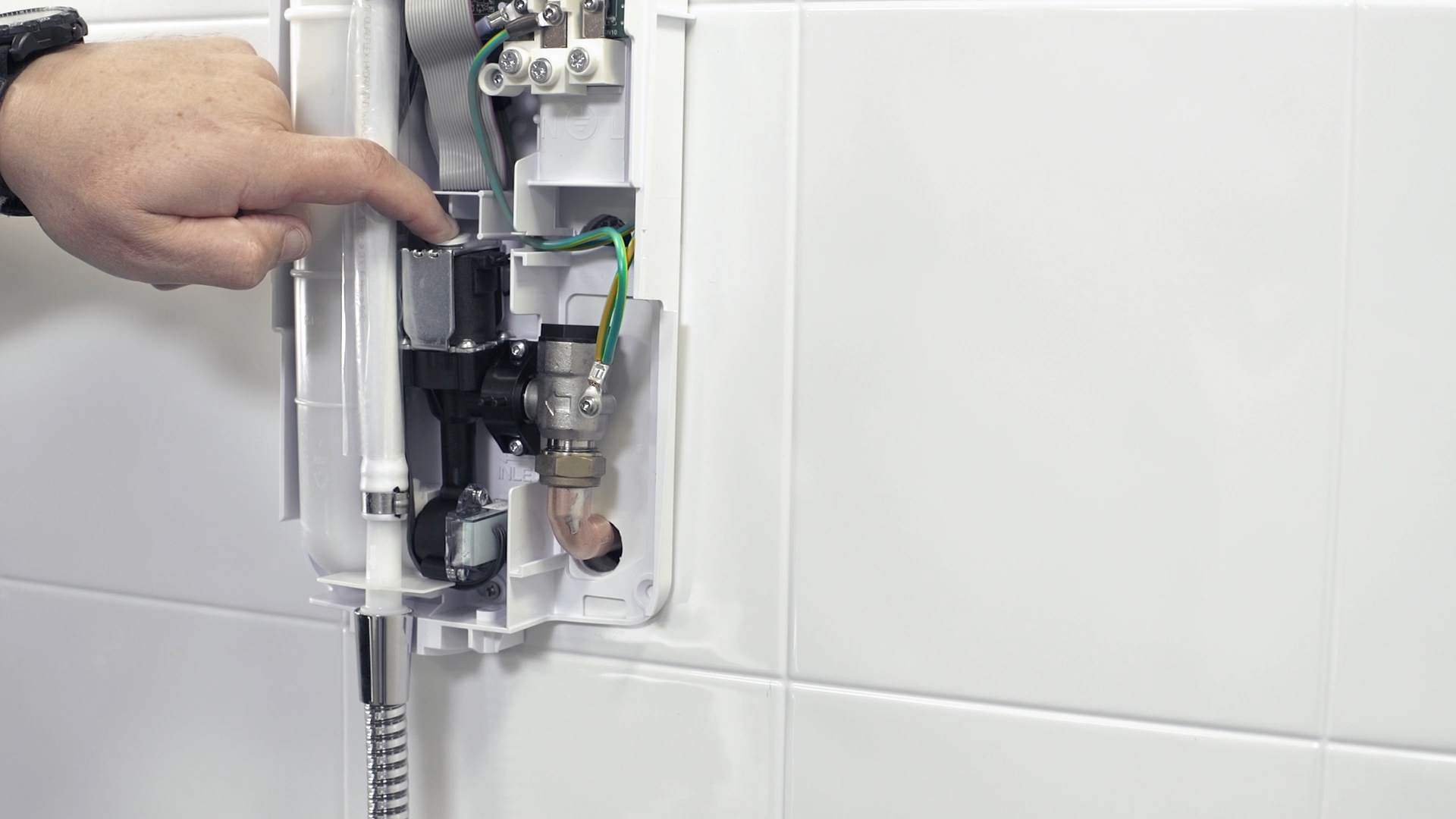 Mira Advance shower outlet tube and hose fitting